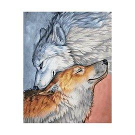 Wizardi Art Diamantmalerei Wölfe