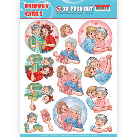 Find It 3D Pushout - Yvonne Creations- Bubbly Girls - Mothersday