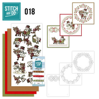Find It Stitch and Do 18 - Snowman and Reindeer