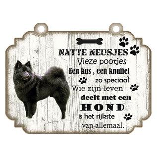 Creatief Art Signe de chien: Keeshond Black