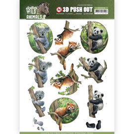 Find It Doordrukvel - Wild animals Koala en panda