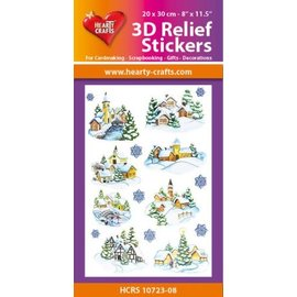 Hearty Crafts 3D Relief Stickers A4 -Winter Village