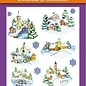 Hearty Crafts Stickers relief 3D A4 - Village d'hiver