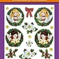 Hearty Crafts 3D Relief Stickers A4 -Christmas