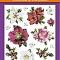 Hearty Crafts 3D Relief Stickers A4 -Christmas Flowers
