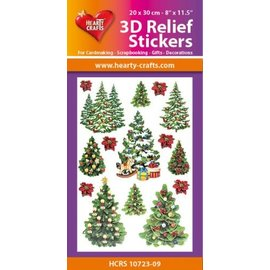 Hearty Crafts Stickers relief 3D A4 - Arbres de Noël
