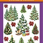 Hearty Crafts 3D Relief Stickers A4 -Christmas Trees