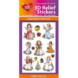 Hearty Crafts 3D Relief Stickers A4 -Angels