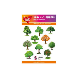 Hearty Crafts easy 3D topper Trees