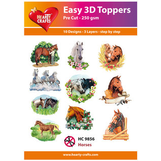 Hearty Crafts 3D topper Horses
