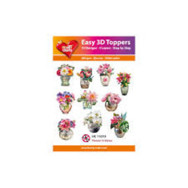 Hearty Crafts 3D easy Topper Flower in Vases
