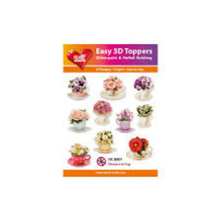 Hearty Crafts Easy 3D topper Flowers in cup