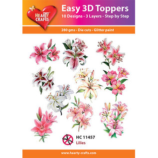 Hearty Crafts 3D topper Lilies