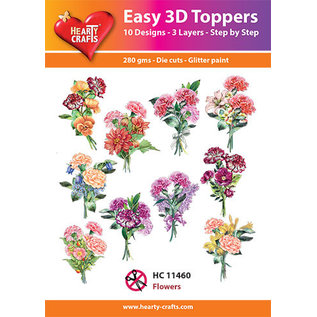 Hearty Crafts 3D topper Flowers