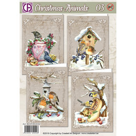 Creatief Art Christmas Animals 03