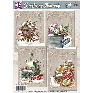 Creatief Art Christmas Animals 04