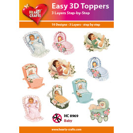 Hearty Crafts Easy 3D-Toppers - Baby