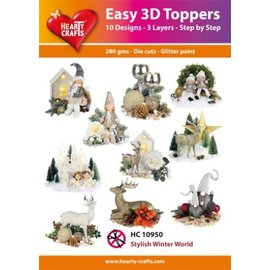 Hearty Crafts Easy 3D-Toppers Stylish Winter World