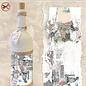 """Creatief Art Flessen Krimpfolie 02 """"Mensen in de sneeuw"""""""