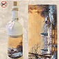 """Creatief Art Flessen Krimpfolie 03 """"Sneeuwlandschap met brug"""""""