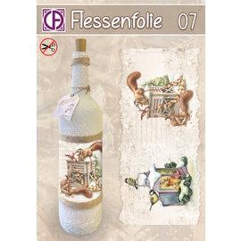 """Creatief Art Flessen Krimpfolie 07 """"Eekhoorns & Meesjes"""""""