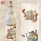 """Creatief Art Schrumpfflaschen 07 """"Eichhörnchen & Meesjes"""""""