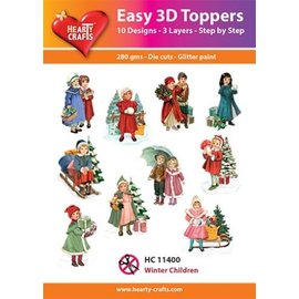 Hearty Crafts Easy 3D-Toppers Winter Children