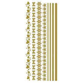 Creatief Art Feuille d'or: rubans et guirlandes 01