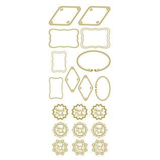 """Creatief Art Feuille d'or: étiquettes & """"fait à la main"""""""