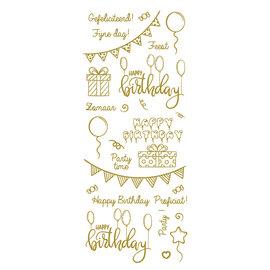 Creatief Art Feuille d'or: fête et anniversaire!