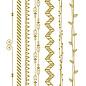 Creatief Art Goldfolie: Bänder & Girlanden 03