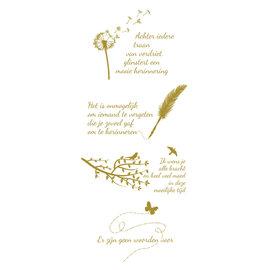 Creatief Art Feuille d'or: condoléances