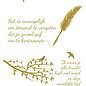 Creatief Art Goldfolie: Beileid Beileid