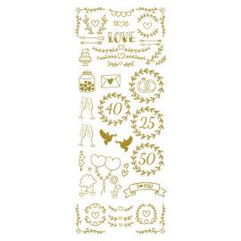 Creatief Art Goldfolie: Ehe & Liebe