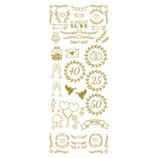 Creatief Art Feuille d'or: Mariage et amour