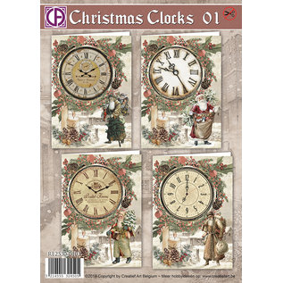 Creatief Art Christmas Clocks 01