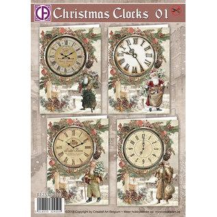 Creatief Art Horloges De Noël 01