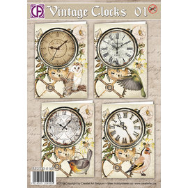 Creatief Art Vintage Clocks 01