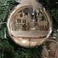 Creatief Art Boule de Noel en bois ornement 01 + boule de Noel 80mm