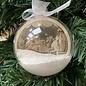 Creatief Art Weihnachtskugel aus Holz Ornament 01 + Weihnachtskugel 80mm - Copy