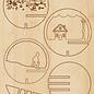 Creatief Art Boule de Noel en bois ornement 01 + boule de Noel 80mm - Copy