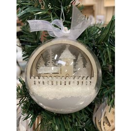 Creatief Art Boule de Noel en bois ornement 01 + boule de Noel 80mm - Copy - Copy