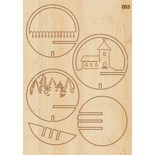 Creatief Art Weihnachtskugel aus Holz Ornament 01 + Weihnachtskugel 80mm - Copy - Copy