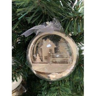 Creatief Art Weihnachtskugel aus Holz Ornament 01 + Weihnachtskugel 80mm - Copy - Copy - Copy