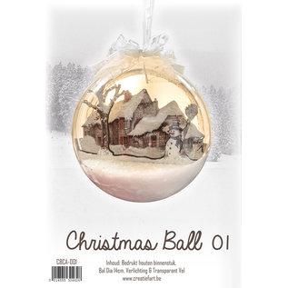 Creatief Art Weihnachtskugel aus Holz Ornament 01 + Weihnachtskugel 80mm - Copy - Copy - Copy - Copy