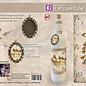 Creatief Art Flessen Krimpfolie XL 11 - Vogels en bloemen