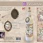 Creatief Art Flessen Krimpfolie 13 - Klok met Vlinders