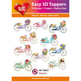 Creatief Art Bicyclettes topper 3D faciles