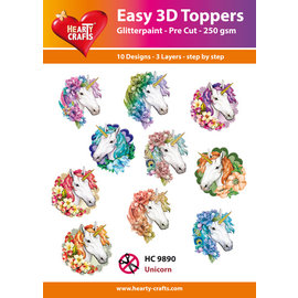 Hearty Crafts Licorne topper 3D facile