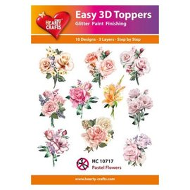 Hearty Crafts Einfache 3D-Topper Pastellblumen